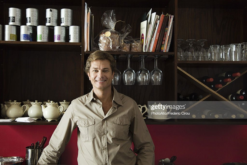 Cafe owner, portrait : Stock Photo