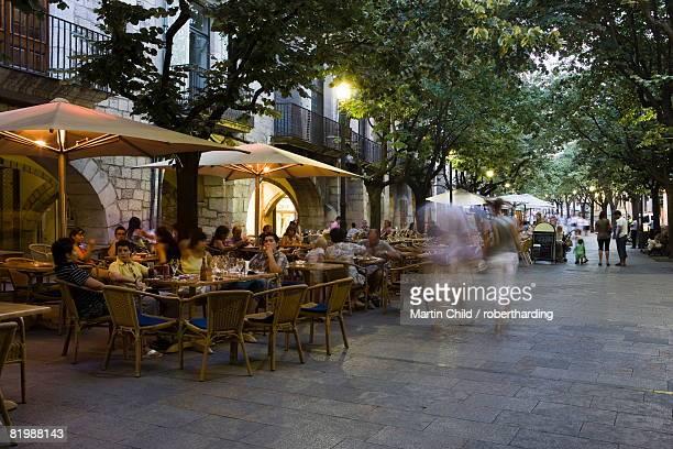 cafe, Rambla Llibertat, old town, Girona, Catalonia, Spain