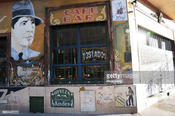 A cafe remains closed during a national strike in Buenos Aires Argentina on April 6 2017 Argentina was brought to a standstill on Thursday as labor...