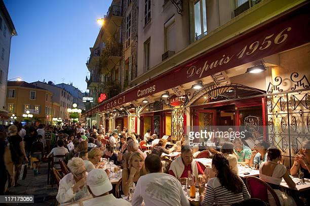 Cafe restaurant at evening.