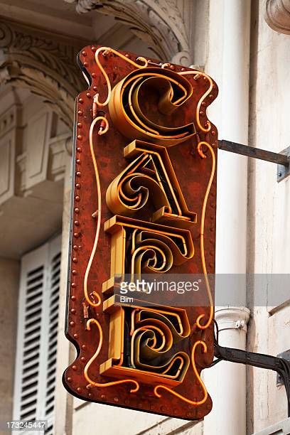 Cafe Sign, Paris, France