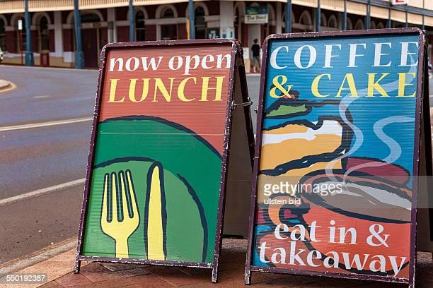 Cafe street signs Bridgetown Western Australia