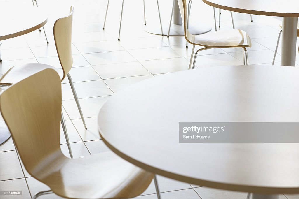 Cafe tables and chairs : Stock Photo