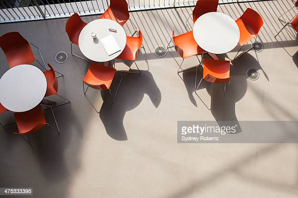 Cafe tables in modern office
