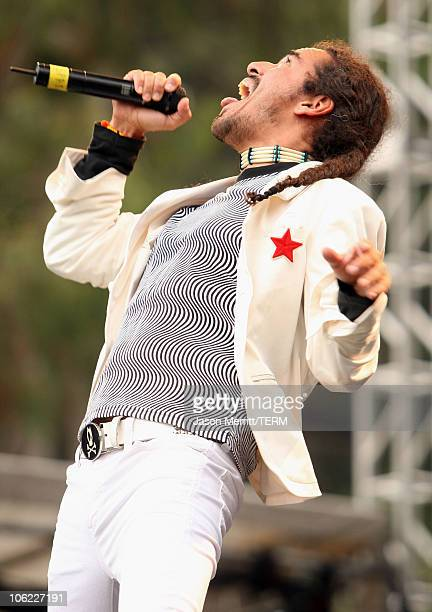 Cafe Tacuba performs onstage during the 2008 Outside Lands Music And Arts Festival held at Golden Gate Park on August 23 2008 in San Francisco...