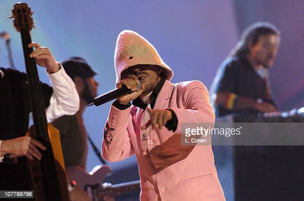 Cafe Tacuba with Incubus peform 'Que Pasara' during The 5th Annual Latin GRAMMY Awards Show at Shrine Auditorium in Los Angeles California United...