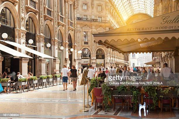Cafes in ornate galleria
