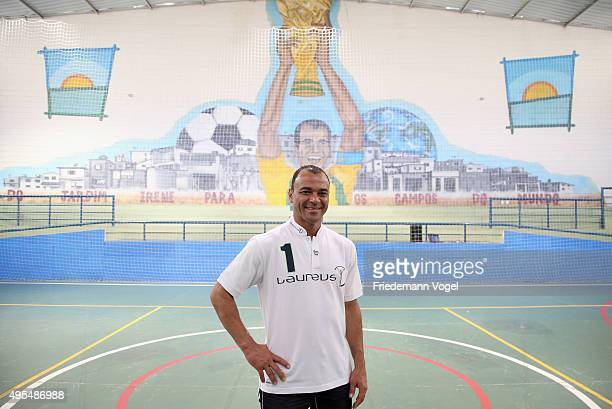 Cafu looks on at the Fundacao Cafu on November 3 2015 in Sao Paulo Brazil