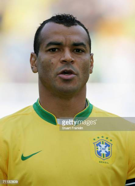 Cafu of Brazil before the international friendly match between Brazil and New Zealand at the Stadium de Geneva on June 4 2006 in Geneva Switzerland