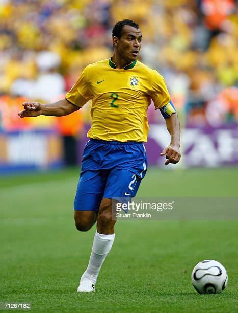 Cafu of Brazil in action during the FIFA World Cup Germany 2006 Group F match between Brazil and Australia at the Stadium Munich on June 18 2006 in...