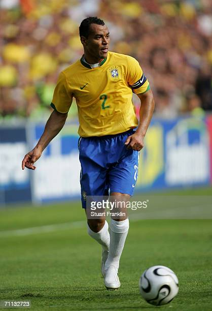 Cafu of Brazil in action during the international friendly match between Brazil and New Zealand at the Stadium de Geneva on June 4 2006 in Geneva...