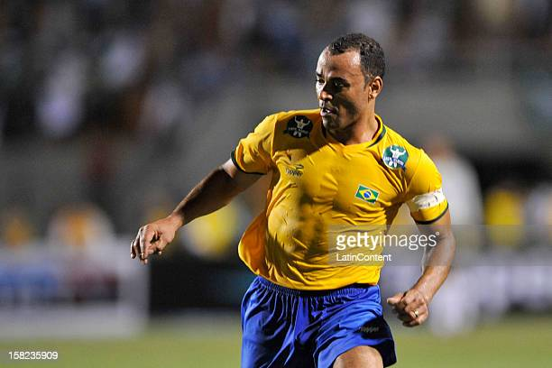 Cafu of Brazilian Team in action during a match between Palmeiras and Brazilian team as part of the farewell match of former goalkeeper Marcos at...