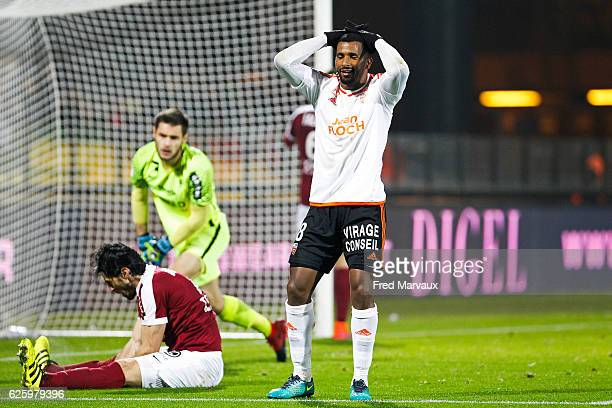 Cafu of Lorient during the French Ligue 1 match between Metz and Lorient at Stade SaintSymphorien on November 26 2016 in Metz France