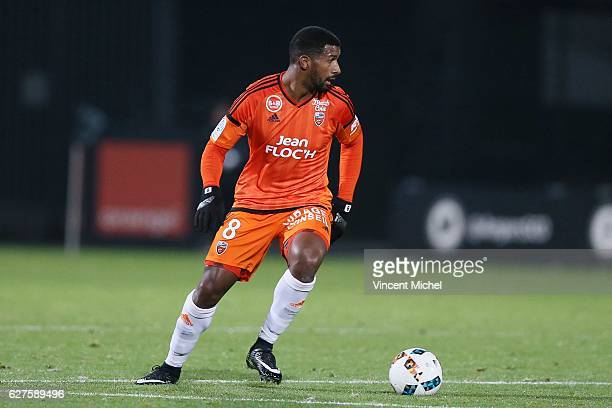 Cafu of Lorient during the Ligue 1 match between Angers SCO and FC Lorient on December 3 2016 in Angers France