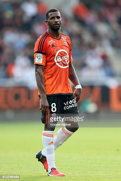 Cafu of Lorient during the Ligue 1 match between FC Lorient and Olympique Lyonnais at Stade du Moustoir on September 24 2016 in Lorient France