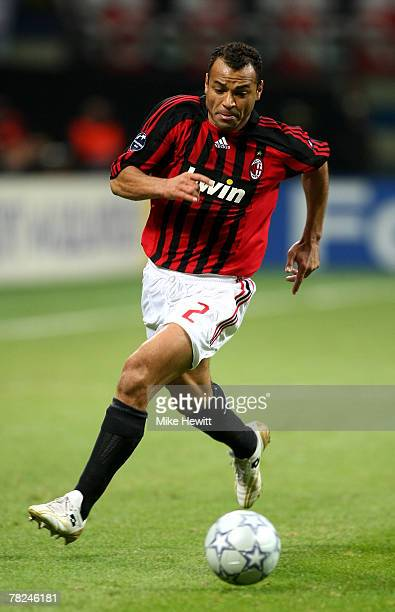 Cafu of Milan in action during the UEFA Champions League Group D match between AC Milan and Celtic at the San Siro stadium on December 4 2007 in...