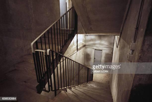 Cage d'escalier dans les années 1980 à Paris France