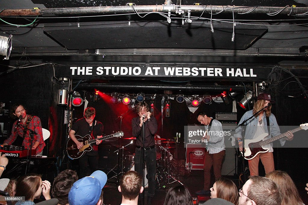 Cage the Elephant perform at a private concert for SiriusXM subscribers to celebrate the release of 'Melophobia' at The Studio at Webster Hall on October 9, 2013 in New York City.