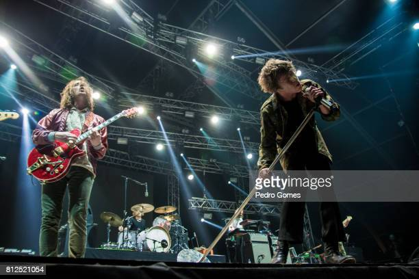 Cage The Elephant performs on Heineken stage at day 3 of NOS Alive festival on July 8 2017 in Lisbon Portugal