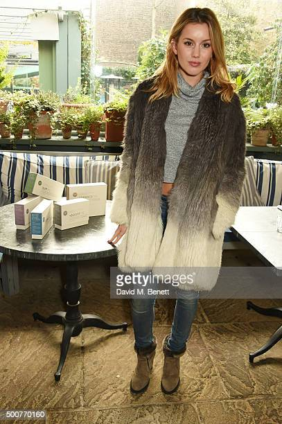 Caggie Dunlop attends an exclusive brunch hosted by Gabriela Peacock to preview her new Nutritional Supplement Programme ahead of the January launch...