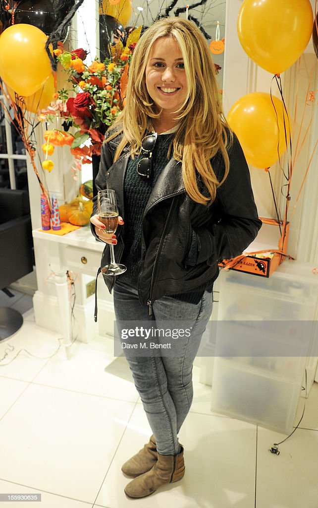 Caggie Dunlop attends the launch of Dubble Trubble by celebrity hair colourist and organic beauty pioneer Daniel Galvin Jr of Galvin & Galvin, in aid of The Prince's Trust, on October 31, 2012 in London, England.