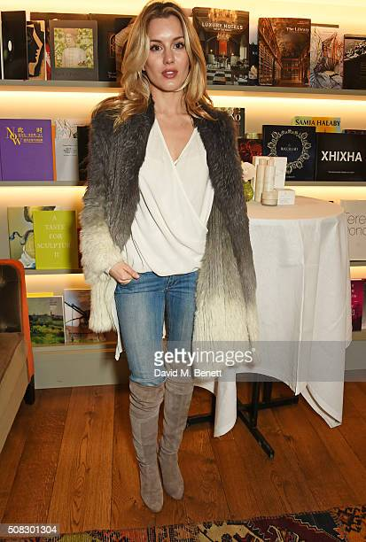 Caggie Dunlop attends the launch of Forte Organics hosted by Irene Forte at Brown's Hotel a Rocco Forte Hotel on February 4 2016 in London England