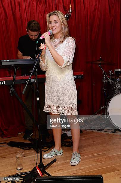 Caggie Dunlop performs her debut set of original material at The Islington on July 4 2013 in London England Caggie released her first single...