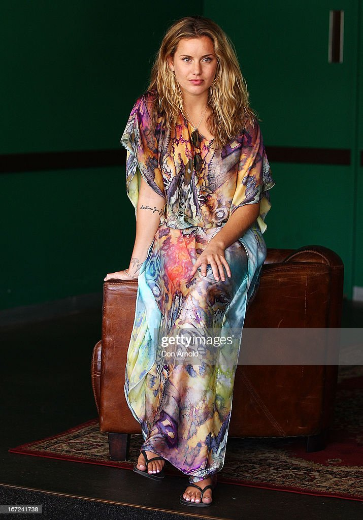 Caggie Dunlop poses during the COSMO 40 Years Celebration Lunch at Otto Ristorante on April 23, 2013 in Sydney, Australia.