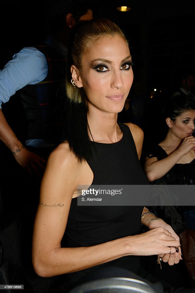 Cagla Sikel seen backstage at the Hakan Akkaya show during MBFWI presented by American Express Fall/Winter 2014 on March 15, 2014 in Istanbul, Turkey.
