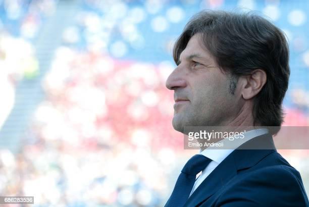 Cagliari Calcio coach Massimo Rastelli looks on before the Serie A match between US Sassuolo and Cagliari Calcio at Mapei Stadium Citta' del...