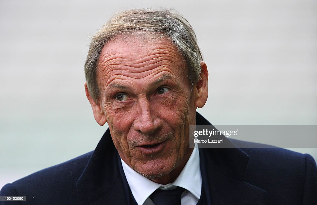 Cagliari Calcio manager <a gi-track='captionPersonalityLinkClicked' href=/galleries/search?phrase=Zdenek+Zeman&family=editorial&specificpeople=628975 ng-click='$event.stopPropagation()'>Zdenek Zeman</a> looks on before the Serie A match between Parma FC and Cagliari Calcio at Stadio Ennio Tardini on December 14, 2014 in Parma, Italy.