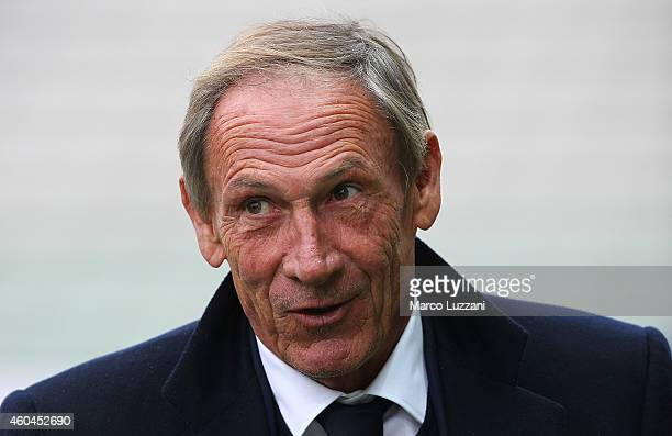 Cagliari Calcio manager Zdenek Zeman looks on before the Serie A match between Parma FC and Cagliari Calcio at Stadio Ennio Tardini on December 14...