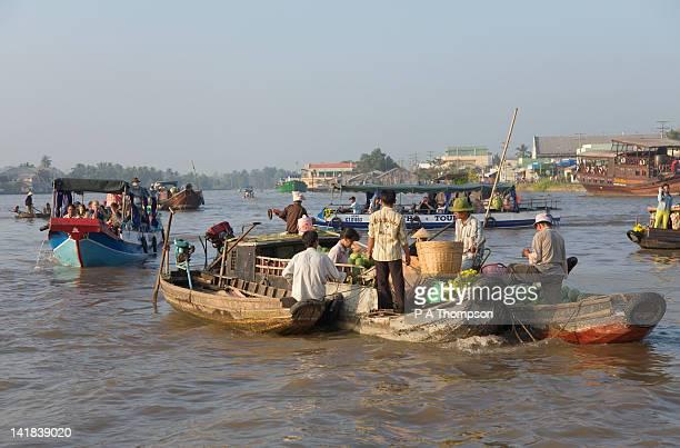 Cai Rang floating market, Mekong Delta, Ha Giang Province, Vietnam