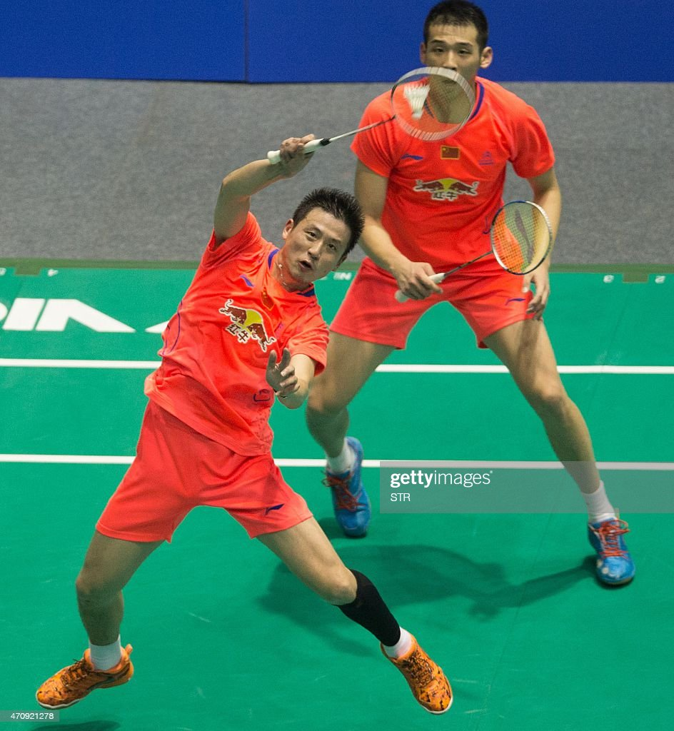 Cai Yun bottom and Lu Kai top of China return to Takeshi