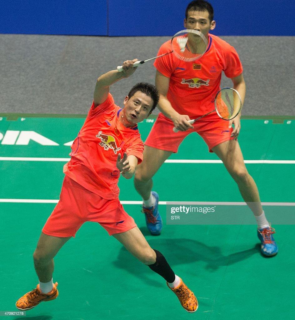 Cai Yun bottom and Lu Kai top of China return to Takeshi