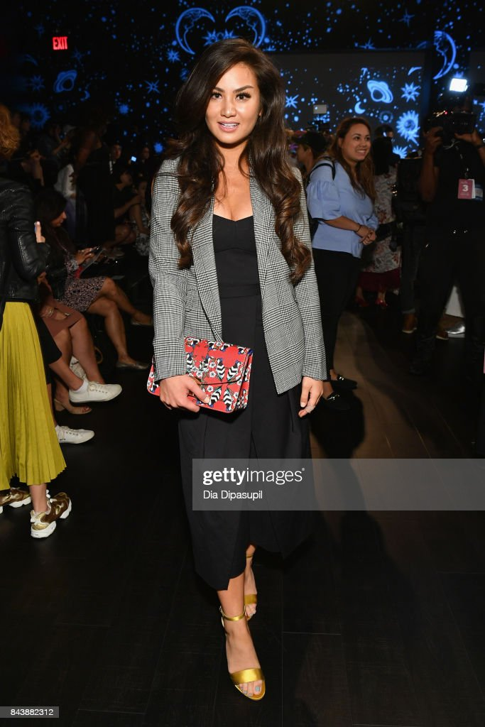Caila Quinn attends the Tadashi Shoji fashion show during New York Fashion Week: The Shows at Gallery 1, Skylight Clarkson Sq on September 7, 2017 in New York City.