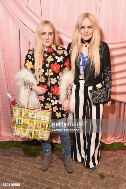 Cailli Beckerman and Sam Beckerman attend the alice olivia by Stacey Bendet Fall 2017 Presentation at Highline Stages on February 14 2017 in New York...