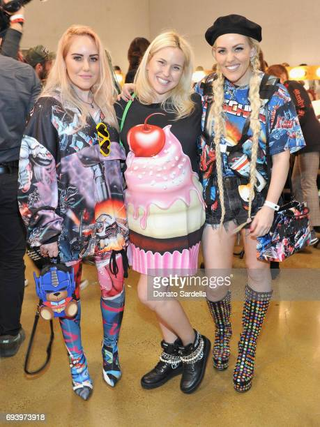 Cailli Beckerman Chloe Beckermann and Sam Beckerman backstage at Moschino Spring/Summer 18 Menswear and Women's Resort Collection at Milk Studios on...