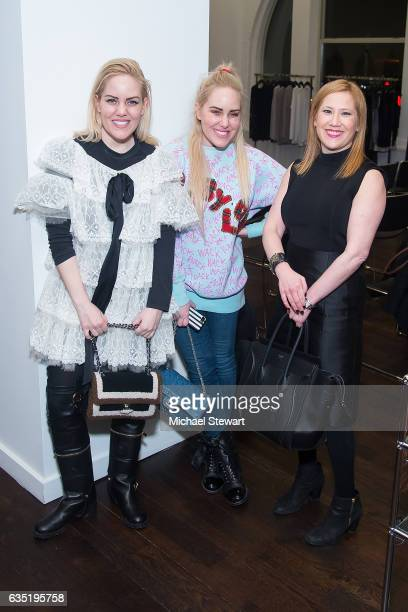 Cailli Beckerman Sam Beckerman and Marci Greenfield attend the Lafayette 148 New York fashion week party on February 13 2017 in New York City