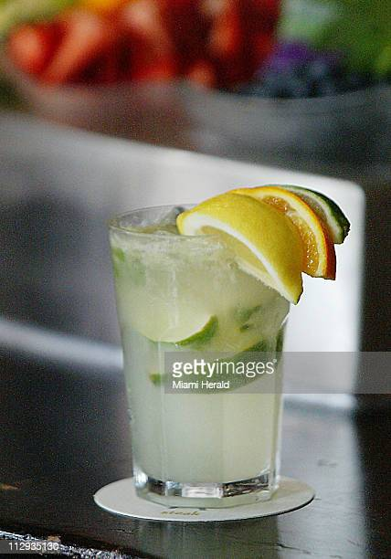 A Caipirinha a traditional Brazilian Drink prepared at Ola Steak in Miami Florida Some predict that this will replace the Cuban Mojito as the next...
