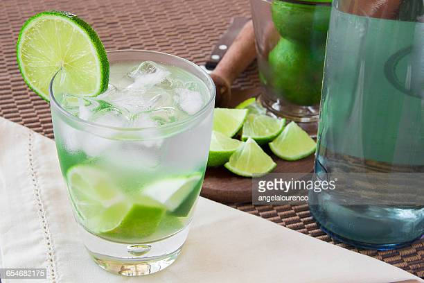 Caipirinha drink and ingredients