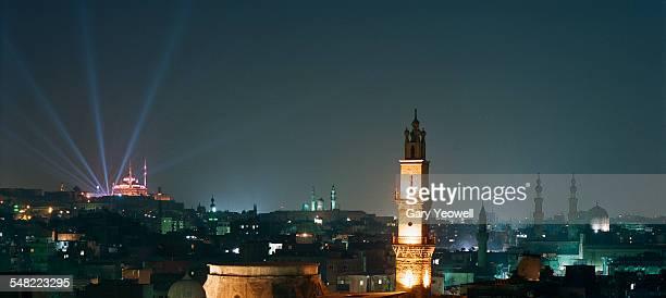 Cairo city skyline at night