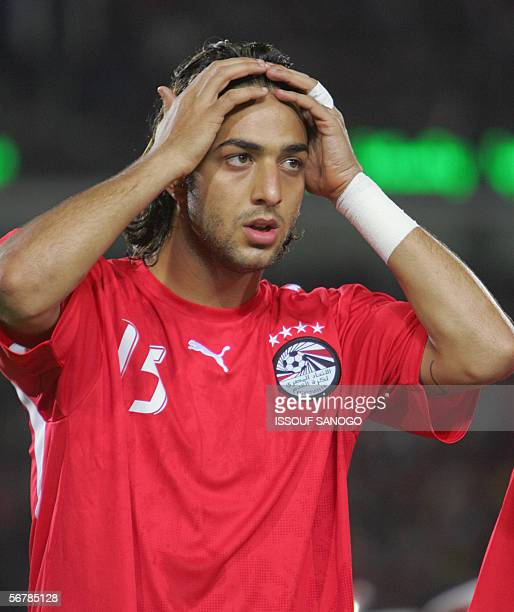 A picture of Egypt star striker Ahmed 'Mido' Hossam player in Tottenham taken 20 January 2006 during the African Nations Cupt in Egypt Mido has been...
