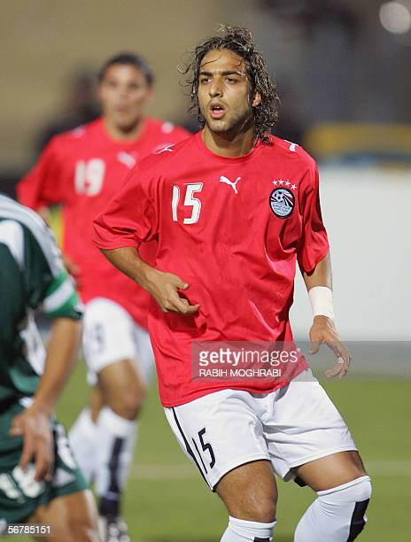 A picture shows Egypt star striker Ahmed 'Mido' Hossam player in Tottenham taken 20 January 2006 during the African Nations Cupt in Egypt Mido has...