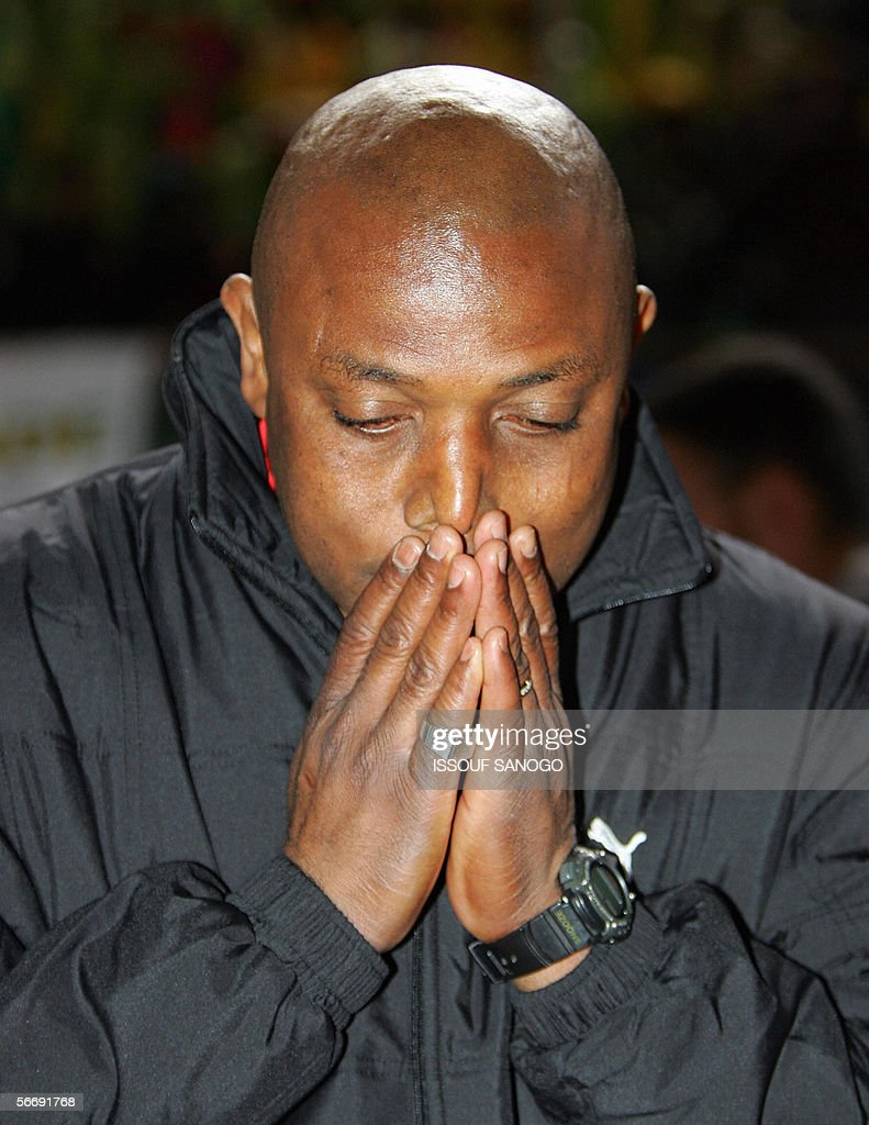The coach of Togo's team <a gi-track='captionPersonalityLinkClicked' href=/galleries/search?phrase=Stephen+Keshi&family=editorial&specificpeople=774165 ng-click='$event.stopPropagation()'>Stephen Keshi</a> of Nigeria poses is seen during the knock-out round football game between Togo and Cameroon at the African Nations Cup (CAN) in Cairo, 25 January 2006. Keshi will probably be sacked after the poor performance of his team in the tournament.