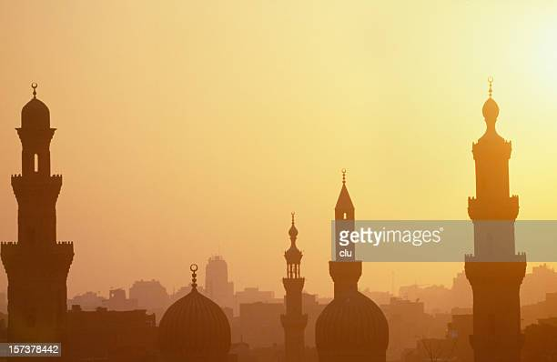 Cairo sunset with towers