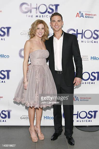 Caissie Levy and Richard Fleeshman attend the after party for the Broadway opening night of 'Ghost The Musical' at Tunnel on April 23 2012 in New...