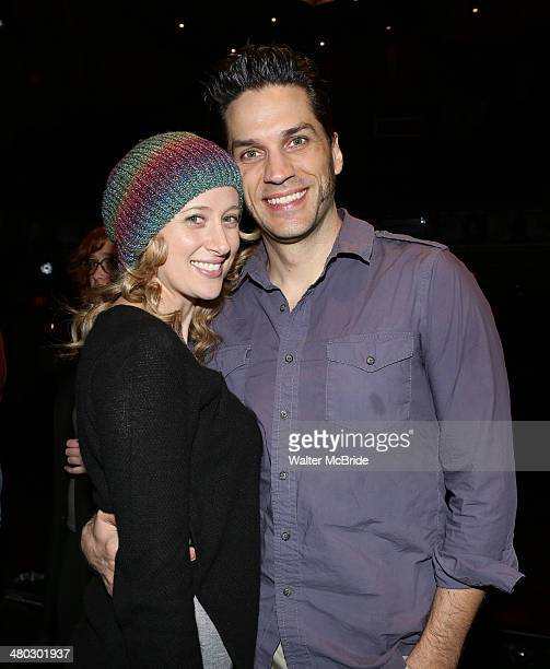 Caissie Levy and Will Swenson during the Broadway Opening Night Performance AEA Gypsy Robe Ceremony honoring Arbender J Robinson for 'Les Miserables'...