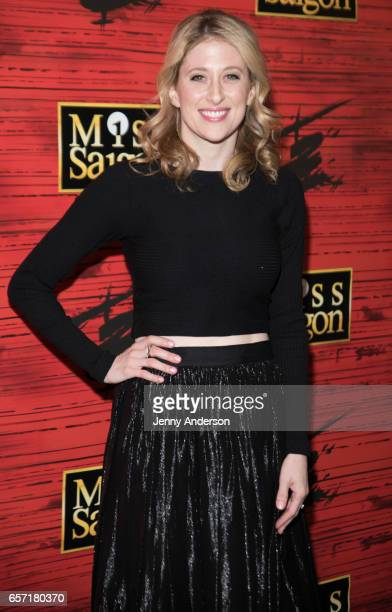 Caissie Levy attends 'Miss Saigon' opening night at Broadway Theatre on March 23 2017 in New York City