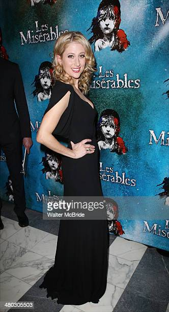 Caissie Levy attends the Broadway Opening Night After Party Reception for 'Les Miserables' at The Imperial Theater on March 23 2014 in New York City